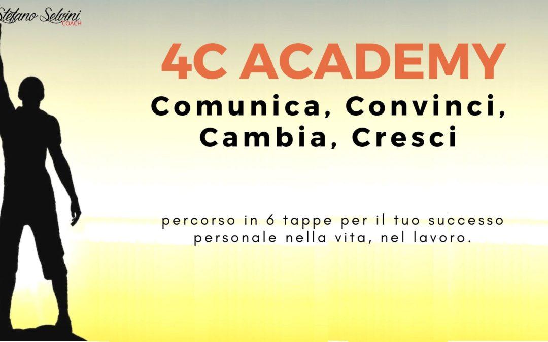 4C ACADEMY: Comunica, Convinci, Cambia, Cresci – dal 11 settembre 2019